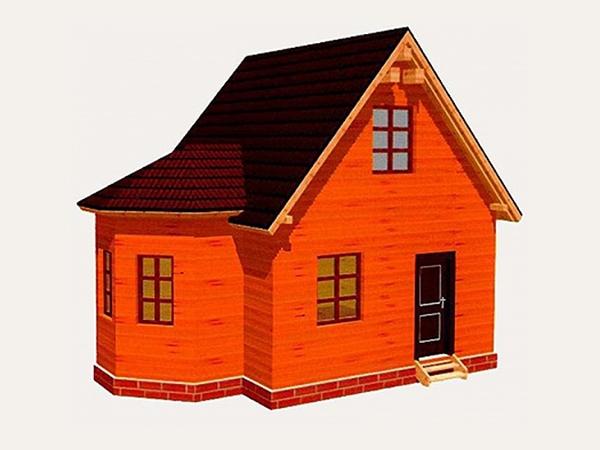 Дачный дом из бруса - 7 (5x7)