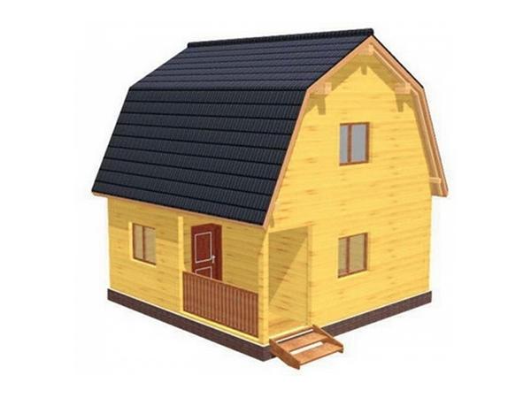 Дачный дом из бруса - 3 (6x6)