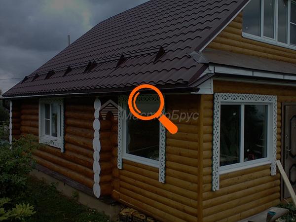 Отделка дома из бревна 8x8 с капитальной стеной