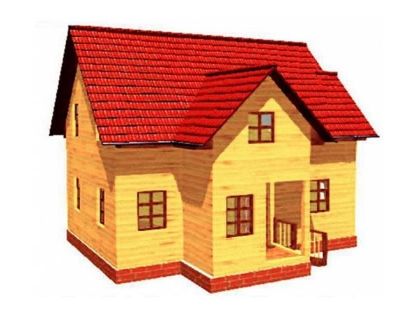 Дачный дом из бруса - 4 (8.5x6.5)