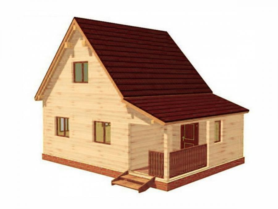 Дачный дом из бруса - 10 (6x8)