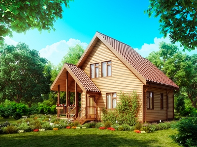 Лучшие дачные дома из бруса