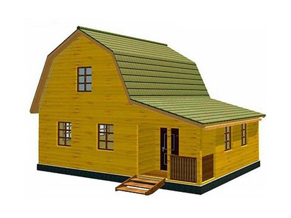 Дачный дом из бруса - 6 (7x9)