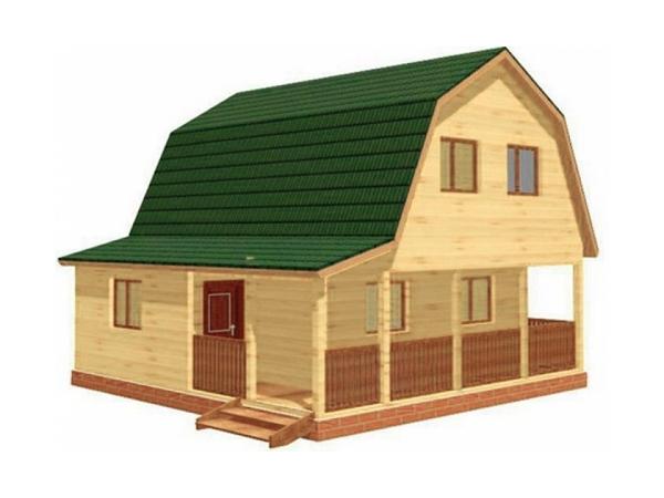Дачный дом из бруса - 2 (7.5x7.5)