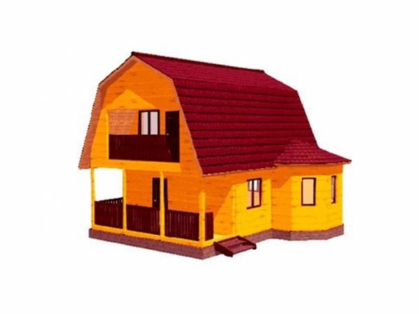 Дачный дом из бруса - 9 (8x8)