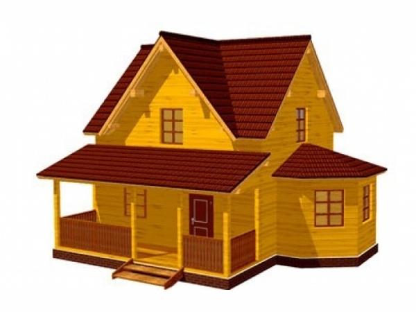 Дачный дом из бруса - 8 (6x7)